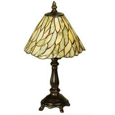 103041 Jadestone Willow Mini Lamp Meyda Tiffany Description: Bring home this beautiful Jadestone Willow mini table lamp with thinly carved and po