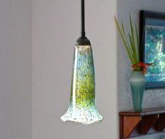 Scavo Glass Pendant Light   Solid Post Forest Green by ScavoGlass, $243.75