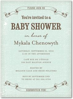 vintage baby boy shower invitation