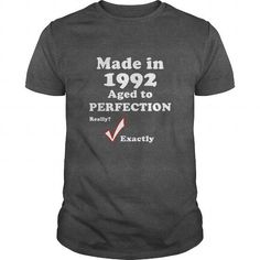 1992 Age to Perfection  Birth Year TShirt