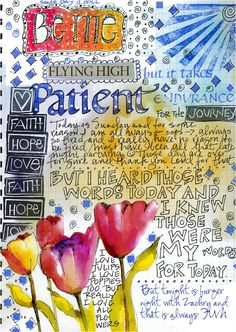 Art journaling...taking doodling, fun fonts with lots of colorful pens and markers to a new level =D