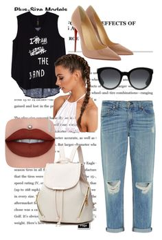 """Без названия #2"" by bolatovaalina on Polyvore featuring мода, rag & bone, Christian Louboutin, Gucci, Melissa McCarthy Seven7 и plus size clothing"