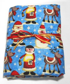 Christmas Sheet for Crib or Toddler Santa Reindeer by KidsSheets, $21.99