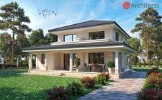2 Storey House Design, Home Design Floor Plans, Georgian Homes, House With Porch, Exterior Design, Building A House, Architecture Design, House Plans, New Homes