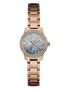 GUESS Rose Gold-Tone Iconic G Watch >>> Visit the image link more details.