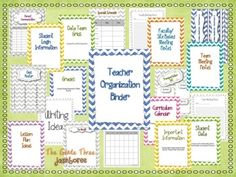 This {Chevron Themed} Teacher Organization Binder includes everything you need to organize all of your teacher documents and notes! There are inserts provided for binder sections as well. So cute and functional! School Classroom, Classroom Activities, Classroom Decor, Teacher Binder Organization, Organized Teacher, Parent Communication Log, School Forms, Your Teacher, Teacher Stuff