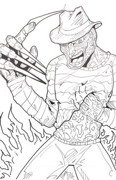 colouring freddy krueger - Google zoeken