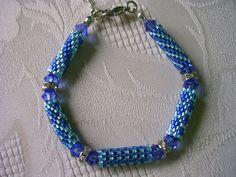 Armband Peyote Zylinder blau