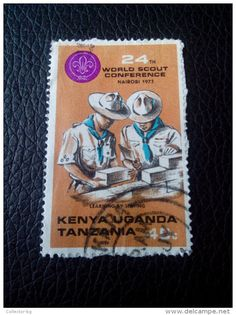 RARE Kenya, Uganda And Tanzania 40C 24th World Scout Conference LETTRE RECOMMANDEE STAMPS ON PAPER COVER USED SEAL NICE - Kenya, Uganda & Tanganyika