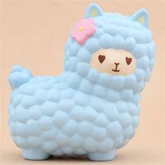 Vlampo squishy jumbo alpaca blu grande kawaii