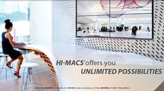 HI-MACS Solid Surface is available in stunning tones and can be thermoformed into virtually any 3D shape or size imaginable.