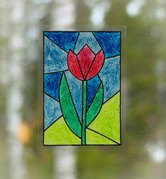 Askartelijan idealaari: Tulppaani vahaliiduilla School Art Projects, Art School, Montessori Art, Expressive Art, Spring Art, Art Classroom, Simple Art, Hobbit, Techno