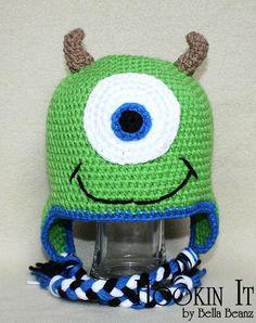 Mike Wazowski Inspired Crocheted Hat