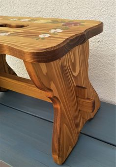 Our hand-painted farm furniture was made of solid wood, spruce and the surface was treated with oil and beeswax. Hand Painted Furniture, Recycled Furniture, Painted Stools, Solid Wood, Recycling, Table, Vintage, Home Decor, Restore