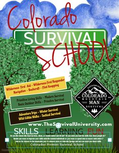 Colorado Mountain Man Survival goal is to bring you premier instruction and educate those interested in survival training and bushcraft. Skills: Bushcraft, Survival Skills, Medical, Navigation, Primitive and Modern Skills. Wilderness First Responder, Wilderness First Aid, Survival Classes, Survival Skills, Winter Survival, Wild Edibles, Colorado Mountains, Mountain Man, Colorado Springs