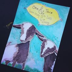 painted card for baby goats - klayarsenault.squarespace.com