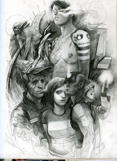 Optically Addicted: Some Drawings and Sketches from Wesley Burt San...