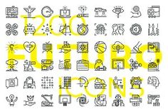 Futuro Line Icons- includes 200 new icons, each of them was assembled literally . - Futuro Line Icons- includes 200 new icons, each of them was assembled literally pixel-by-pixel with - Home Design, Interior Design Trends, Web Design, Icon Design, Graphic Design, Design Set, Design Ideas, Visual Design, Energy Symbols