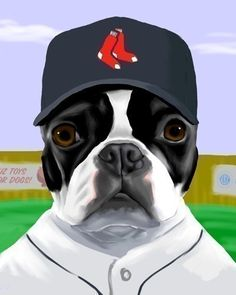 Boston Terrier  Baseball Print  Pick your team by rubenacker, $18.00