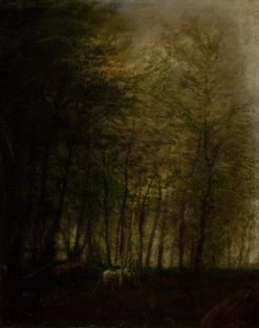 Carriage in the Forest, Romanticism, Impressionism, Landscapes, Dark, Painting, Paisajes, Scenery, Painting Art, Paintings