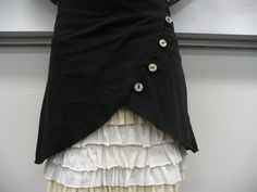 DIY skirt overlay. Includes a link to the tutorial for the ruffled under-skirt