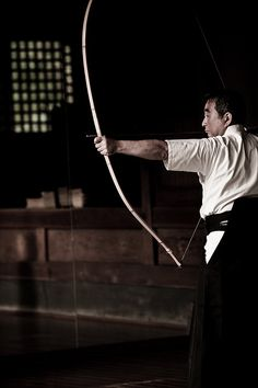 Japanese archery, Kyudo. I wanted to try this so bad when I was in Japan.