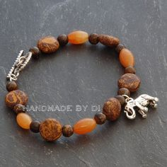 elephant jasper and bronzite bracelet