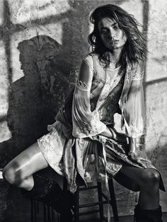 Andreea Diaconu by Mario Sorrenti for Vogue Paris March 2015
