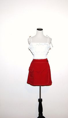 Vintage Red Skirt by CheekyVintageCloset on Etsy, $14.50