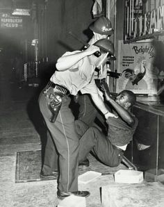 Police Subdue an African American man during an uprising in North Philadelphia on Columbia Avenue, August Photo credit: Temple University Libraries / Philadelphia Evening Bulletin Black History Facts, Black History Month, Civil Rights Movement, Before Us, African American History, Black Power, World History, Black People, Oppression