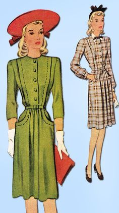 Image result for 1940s casual fashion