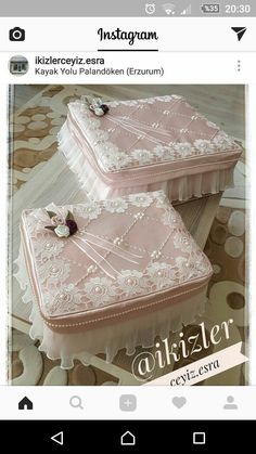23 Clever DIY Christmas Decoration Ideas By Crafty Panda Cajas Shabby Chic, Shabby Chic Boxes, Shabby Chic Pink, Diy Arts And Crafts, Handmade Crafts, Home Decor Wall Art, Diy Home Decor, How To Store Shoes, Free To Use Images