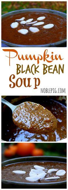Pumpkin Black Bean Soup from NoblePig.com