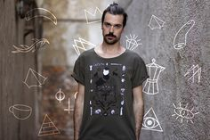 Trú meets Sewologylab T-Shirts by Eva Machajdíková, via Behance @sewologylab  #art #graphictee #fashiondesign #t-shirt  #design #illustration #silkscreen