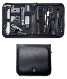 3 Swords Germany - brand quality 12 piece manicure pedicure grooming kit set for professional finger & toe nail care tweezers file clipper fashion leather case in gift box, Made by 3 Swords Foot Pedicure, Pedicure Nail Art, Pedicure Tools, Nail Art Machine, Nail Drill Machine, Electric Nail File, Toe Nail Clippers, Grooming Kit