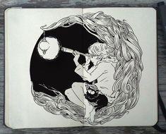 Incredible Moleskine Art Tells Magnificent Stories - My Modern Metropolis Art Et Illustration, Ink Illustrations, Totoro, Animal Drawings, Art Drawings, Gabriel Picolo, Moleskine Sketchbook, Sketchbooks, Art Graphique