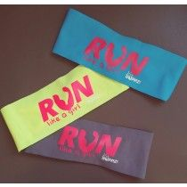 "Her Suppz Girls Run Bondiband 3"" headband Child size, one size fits most Stretchy, breathable material Made in the USA"