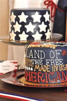 Patriotic cake! #redwhitebgosh
