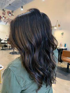Full Balayage, Brown Hair Balayage, Ombre Hair, Light Brunette, Brunette Hair, Golden Blonde Highlights, Hair Highlights, Cool Hair Color, Hair Colors
