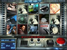 Heist is five-reel, thirty line slot from BetSoft. It's an action-packed game with a classic storyline featuring an unwavering detective and a world-class robbe Casino Slot Games, Game Slot, Usa Mobile, Hidden Object Games, Play Slots, Casino Reviews, Free Slots, Played Yourself, Slot Online
