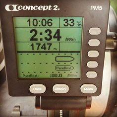 Vamos mejorando, 10:00 minutos de remo. // Getting better,  10:00 minutes rowing.  #mujerescontenis #Reto56Días