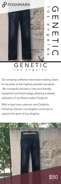 Genetic Jeans Los Angeles 👖 Premium denim brand Genetic Jeans Los Angeles. Stove pipe, mid-rise jeans  inseam 33.5 inches Genetic Denim Jeans Straight Leg