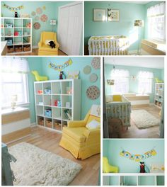 What fantastic colors! Plus painting circles on the wall is a challenge.  These wall hangings give the effect without the hassle!