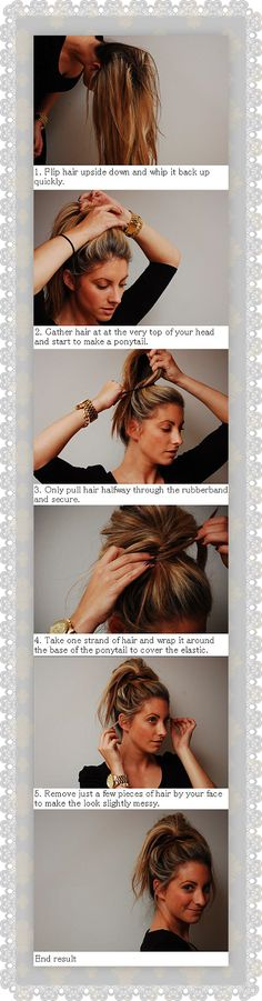 MessyBun. a helpful hair how to
