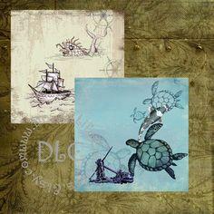 Vintaq Oceans Art  Digital Collage Sheets by DesertLifeCreations, $4.25