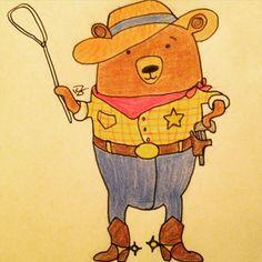 #mywork #illustration #bearcartoon #sheriffbear