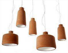 Luminária Pendente de Cerâmica por Benjamin Hubert Studio