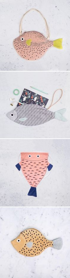 Fish bags by Julia Castaño / on the Blog!