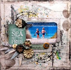 Designing team layout for The Scrapbook Store - Mays Sketch Challenge with Prima Seashore...