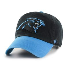 e5669c15a Carolina Panthers Clean Up Two-Tone Black 47 Brand Adjustable Hat